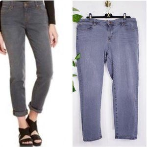 EILEEN FISHER Grey Organic Cotton Mom's Jeans 16